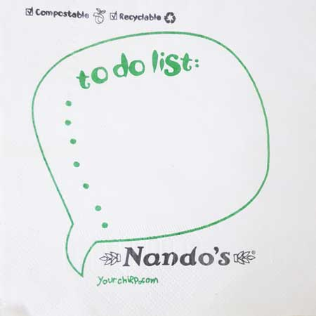 Nando's - To Do List